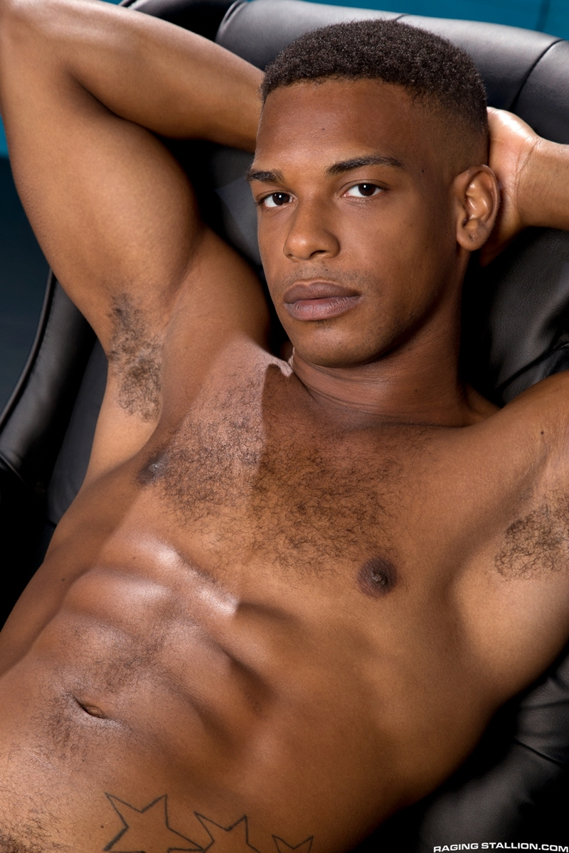 Hot naked black men King B and Adrian Hart hardcore ass fucking