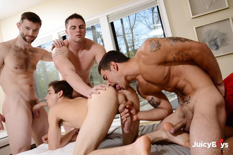 Johnny Rapid double fucked by Dennis West, Vadim Black and Jake Wilder