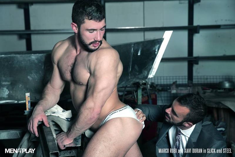Sexiest muscle bottom boy Marco Rubi returns getting his ass fucked by Xavi Duran