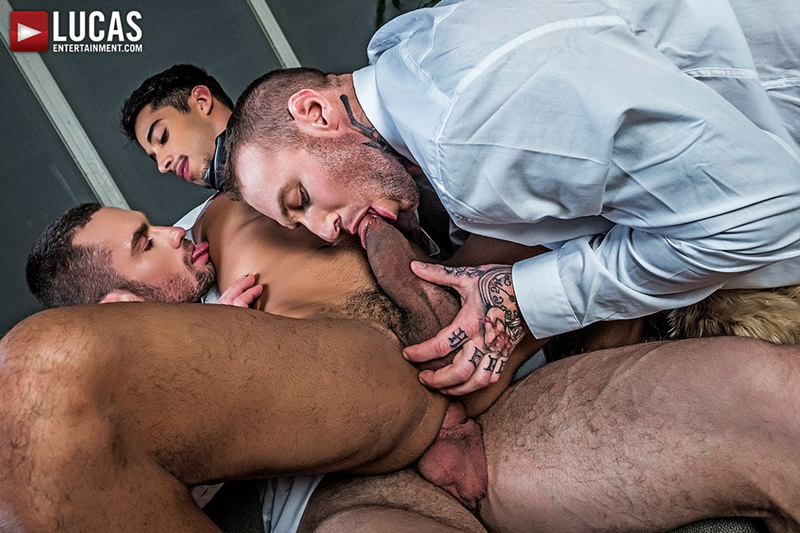 Drae Axtell's office threesome with Dylan James and Stas Landon