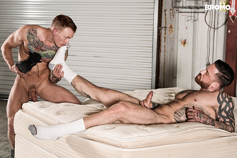 Jordan Levine's boots and bare feet worshiped by Brett Lake