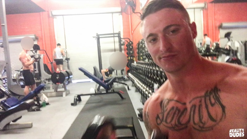 Zander Cole and Dane Stewart bareback ass fucking in the public gym