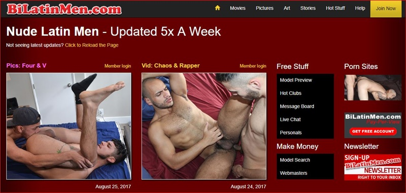 Bi Latin Men gay porn site 5 star review