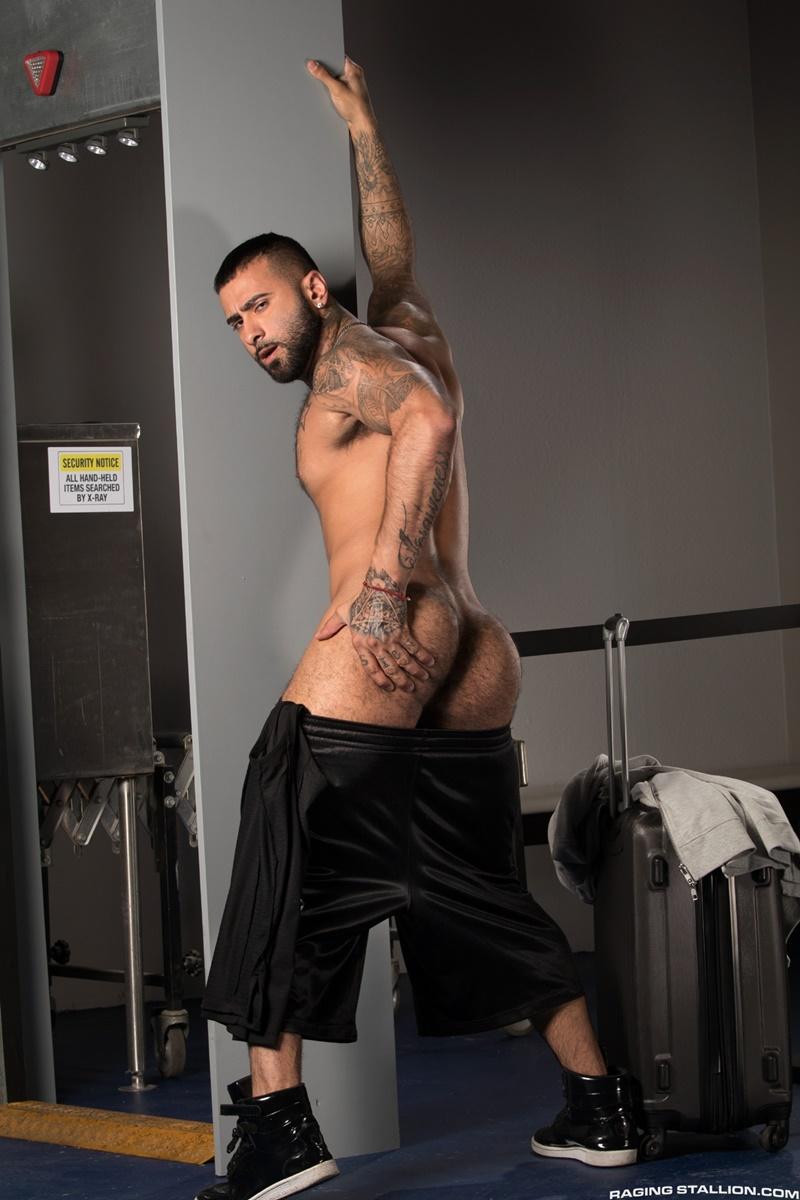Rikk York is balls deep inside the TSA agent Daymin Voss' tight muscle hole