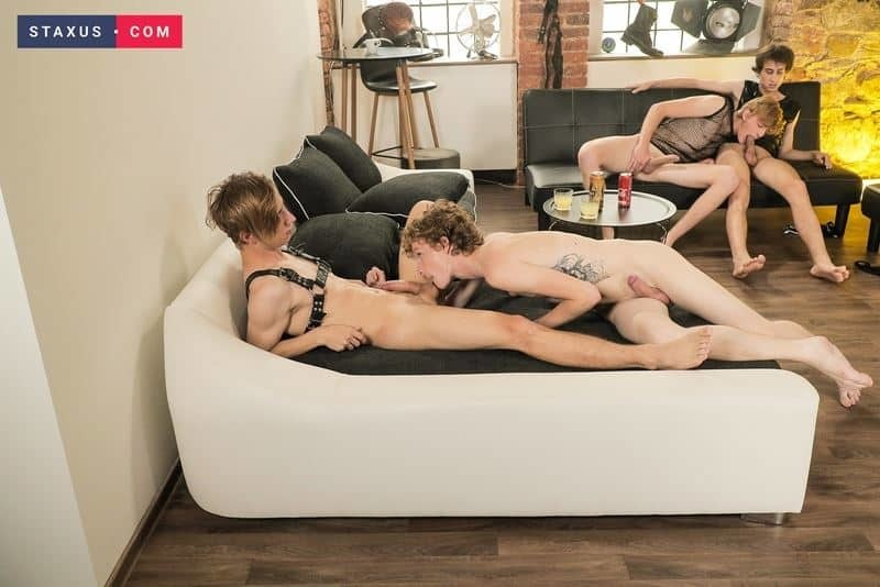 Hot blonde young studs John Hardy fucked hard by Timmy Williams' huge twink dick