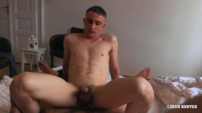 First time gay cocksucking straight guy virgin bareback ass fucking at Czech Hunter 540