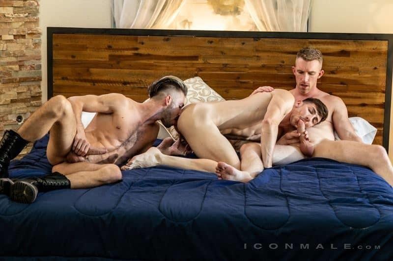 Hardcore muscle dude threesome Nick Fitt, Michael Jackman and Ian Frost big dick ass fucking orgy