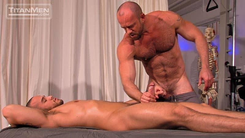 Ripped muscle stud Alex Graham's huge cock balls deep ass fucking hairy hunk Matt Stevens