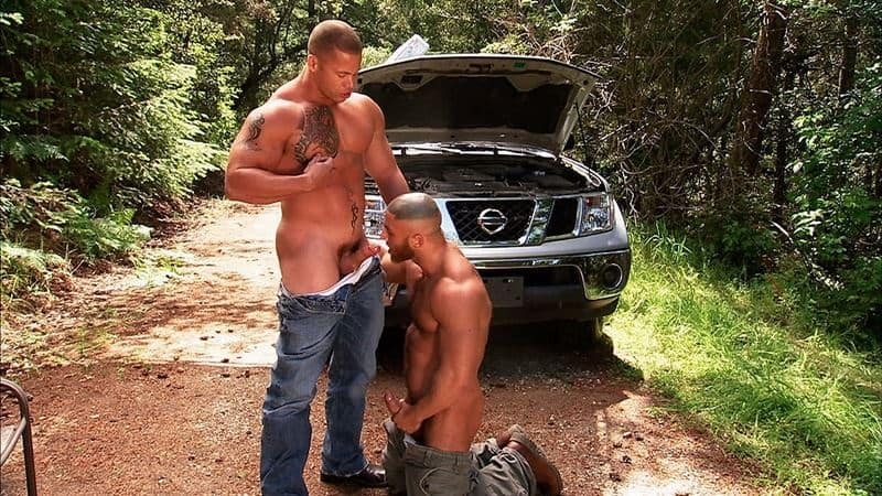 Big muscle dude Francois Sagat's hot asshole fucked by huge muscled hunk Matthew Rush's big thick dick
